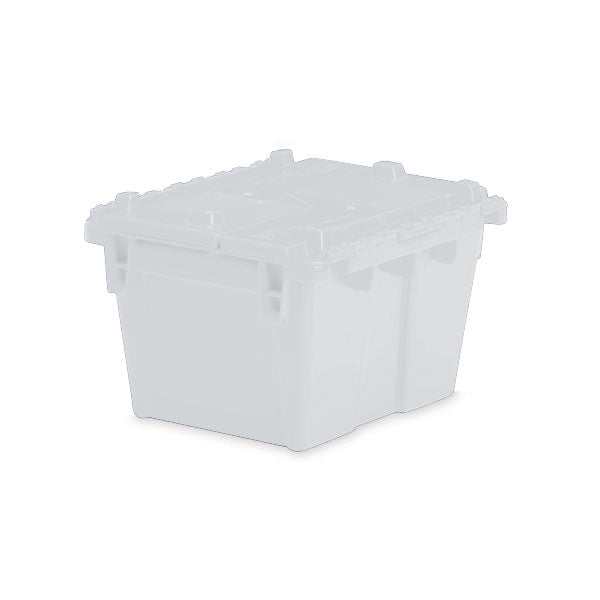 "Lockable Storage Totes - Large - 21.8""L x 15.2""W x 12.9""H - Semi Clear"
