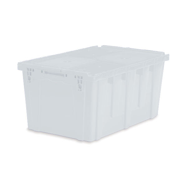 "Lockable Storage Totes - Extra Large - 26.9""L x 17""W x 12.6""H - Semi Clear"