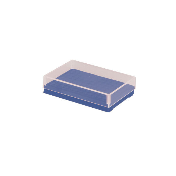 Compact PCR Tube Storage Rack - Blue