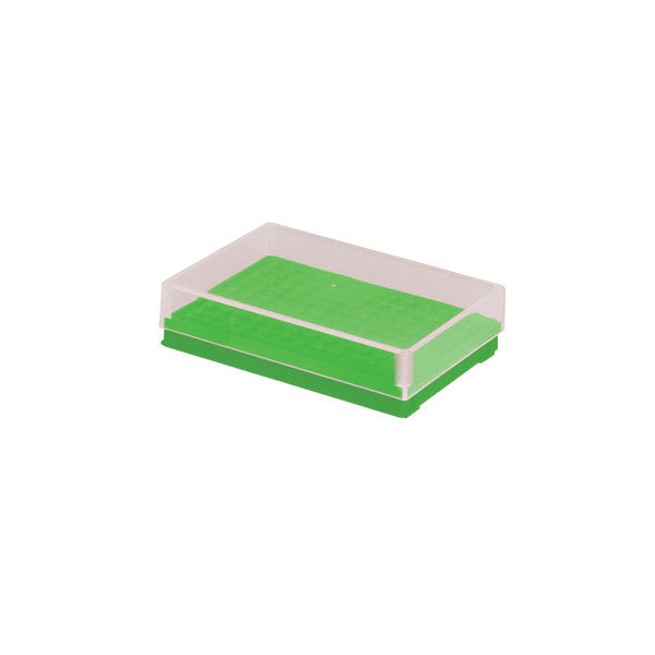 Compact PCR Tube Storage Rack - Green