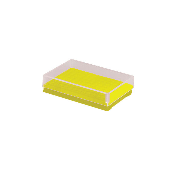Compact PCR Tube Storage Rack - Yellow