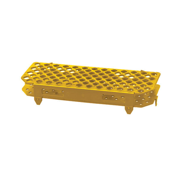 100-Place Microcentrifuge Tube Rack - Yellow