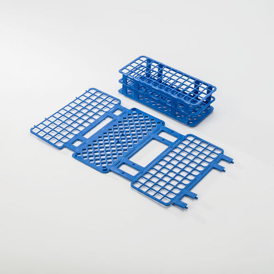 60-Place Tube Rack for 16mm Tubes - Blue
