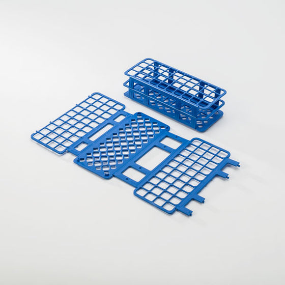 40-Place Tube Rack for 20mm Tubes - Blue