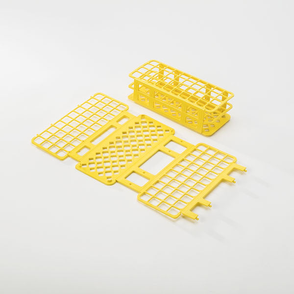 40-Place Tube Rack for 20mm Tubes - Yellow