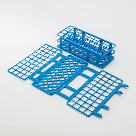 40-Place Tube Rack for 25mm Tubes - Blue