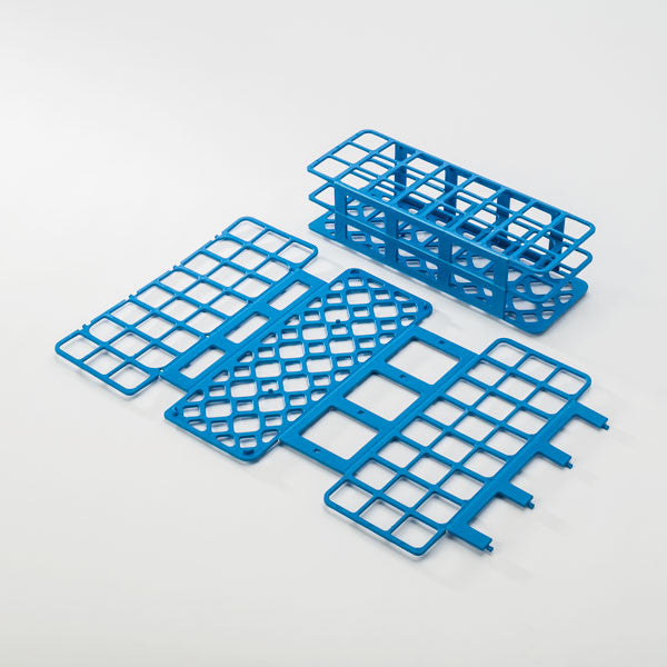 24-Place Tube Rack for 30mm Tubes - Blue