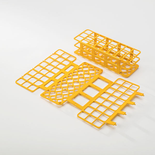 24-Place Tube Rack for 30mm Tubes - Yellow