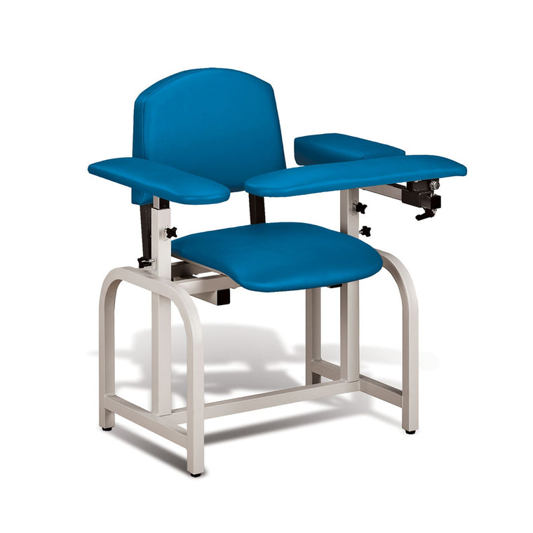 Lab X Padded Phlebotomy Blood Draw Chair Royal Blue