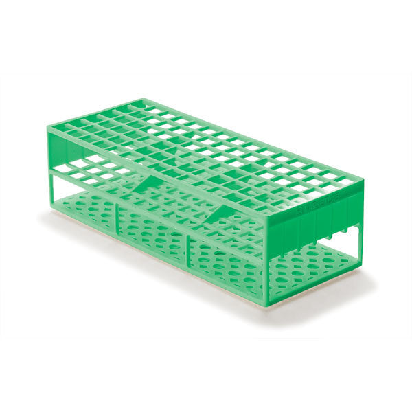 Laboratory Test Tube Racks for 13mm Test Tubes - Green