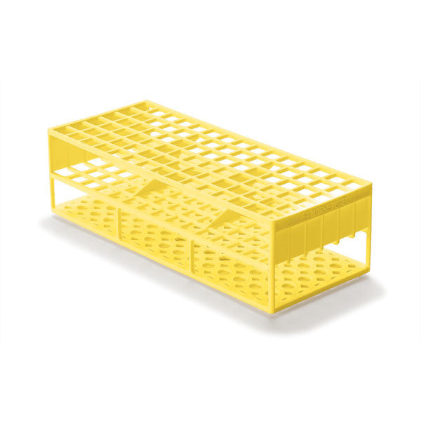 Laboratory Test Tube Racks for 13mm Test Tubes - Yellow