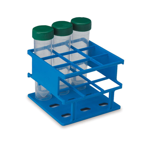 Half-Size 30mm Test Tube Racks - Blue