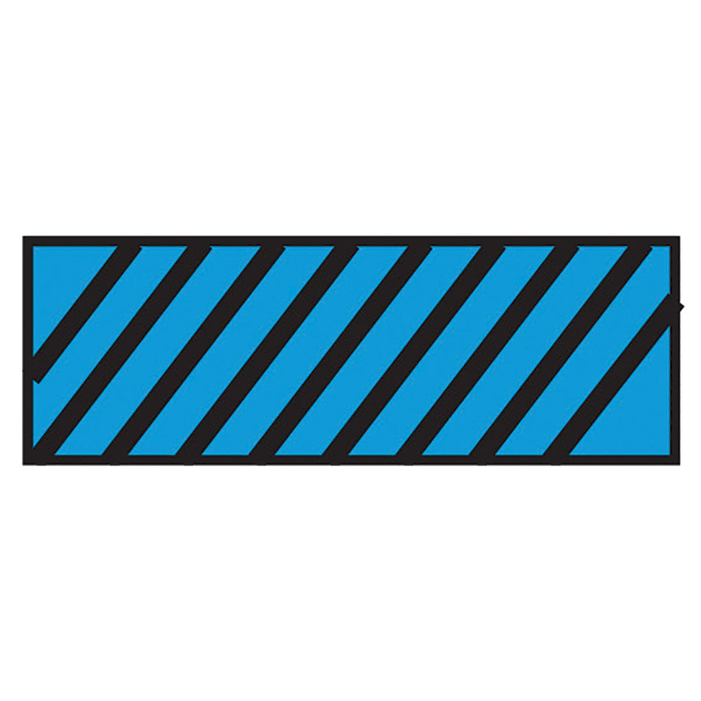 Instrument Marking Sheet Tape with Black Diagonal Stripes - Blue
