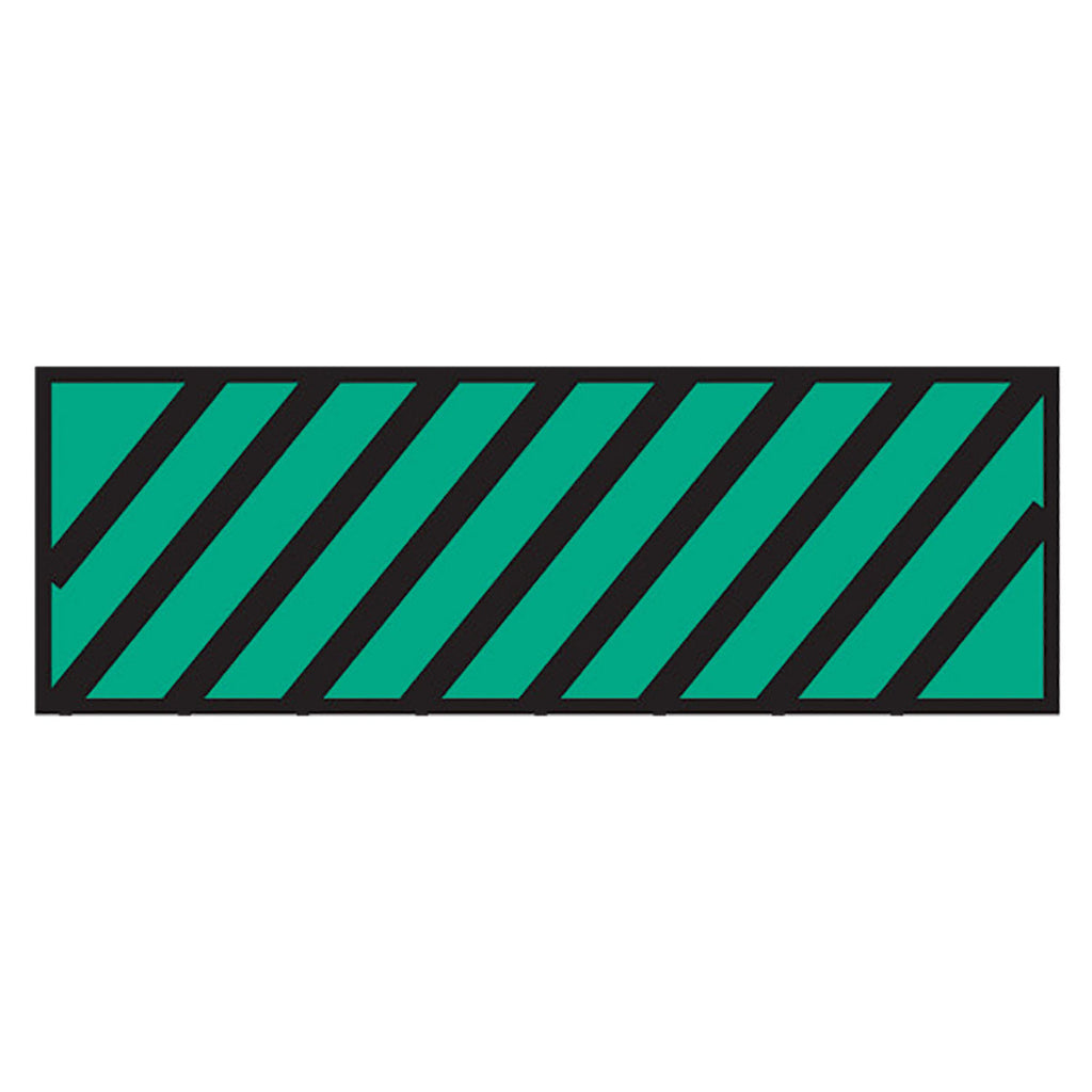 Instrument Marking Sheet Tape with Black Diagonal Stripes - Green