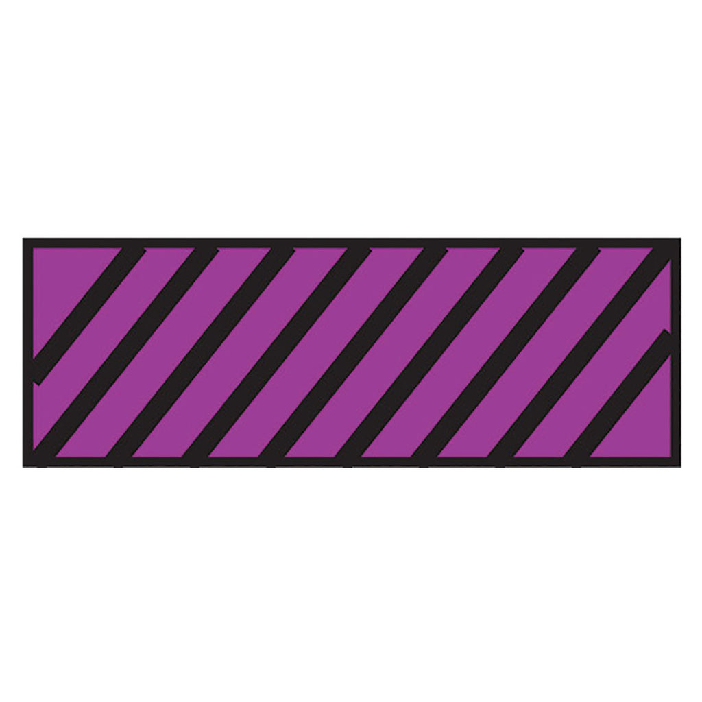 Instrument Marking Sheet Tape with Black Diagonal Stripes - Purple