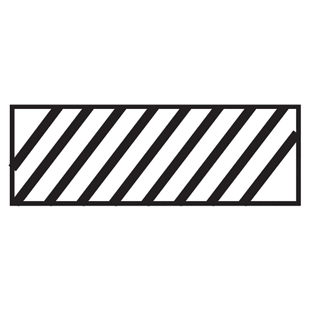 Instrument Marking Sheet Tape with Black Diagonal Stripes - White