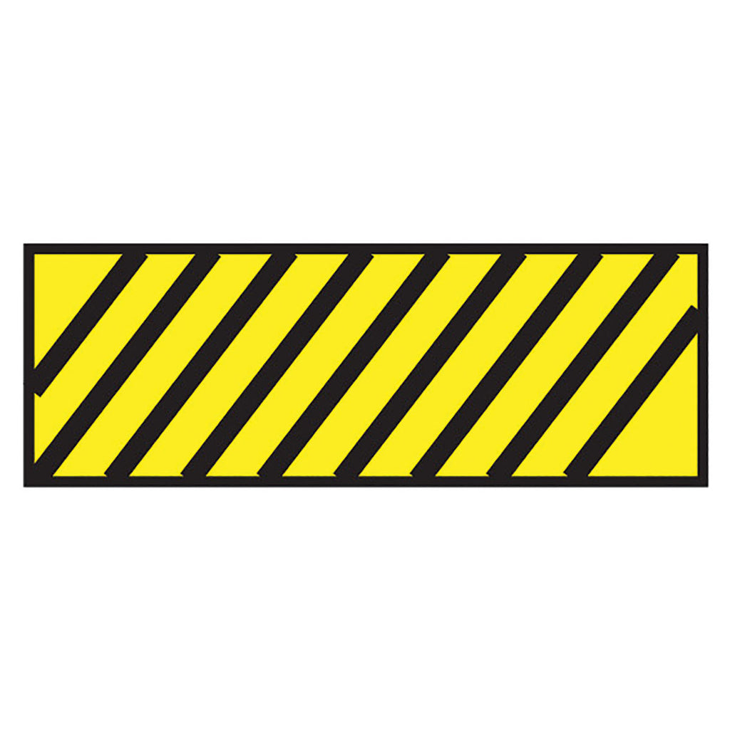 Instrument Marking Sheet Tape with Black Diagonal Stripes - Yellow