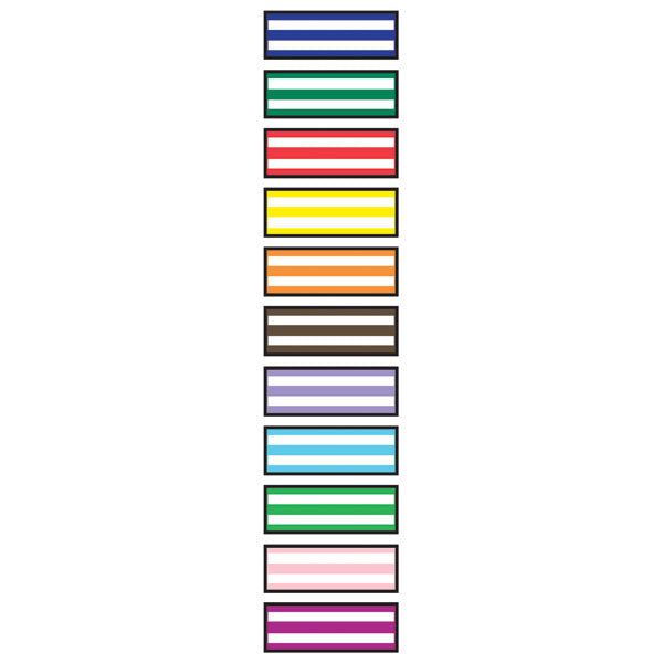 White Stripe Instrument Marking Sheet Tape - Lime Green