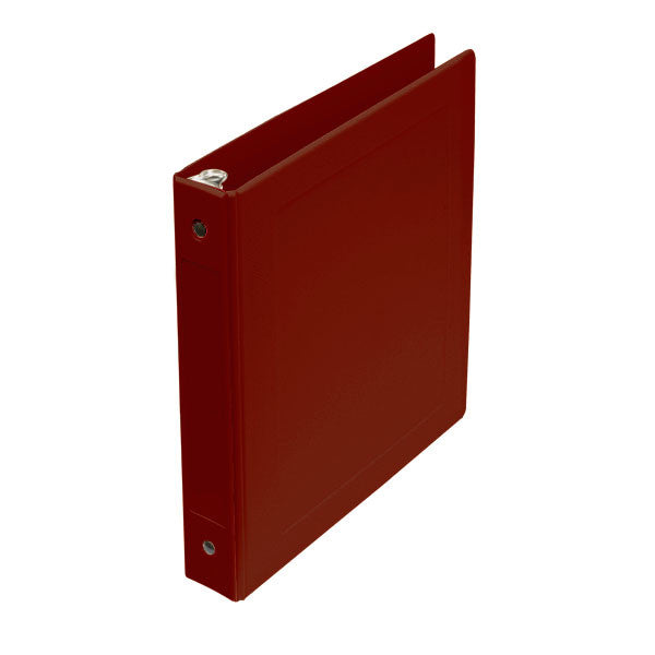 "1"" Side Open Molded Medical Ring Binder - Burgundy"