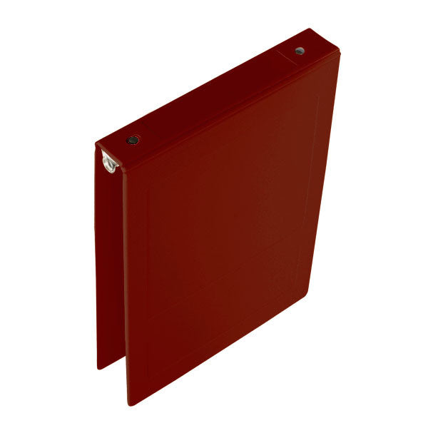 "1"" Top Open Molded Medical Ring Binder - Burgundy"