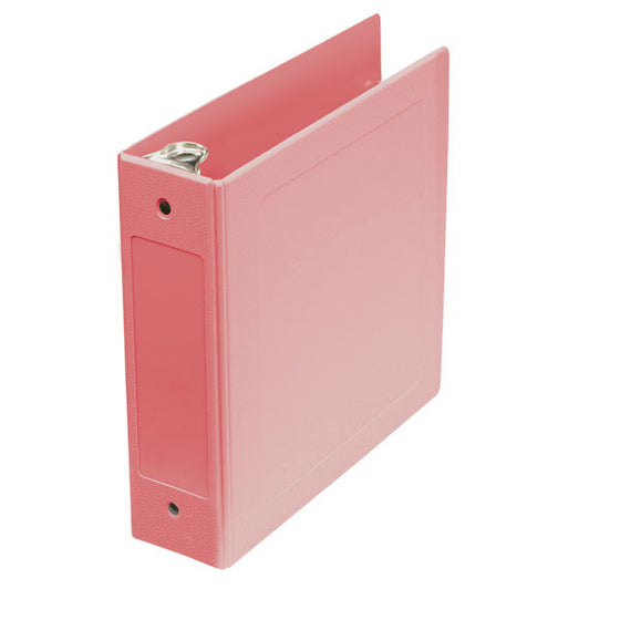 "2.5"" Side Open Molded Medical Ring Binder - Mauve"
