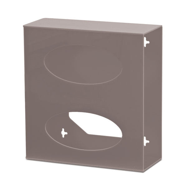 Double Side-Loading Acrylic Glove Box Holder - Dark Grey