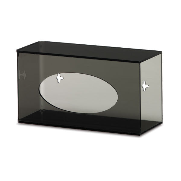 Single Side-Loading Acrylic Glove Box Holder - Dark Grey