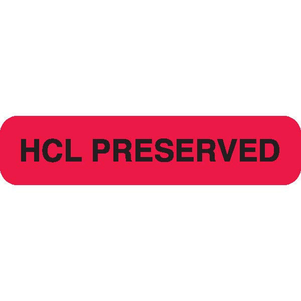 "Urine Collection Label - ""HCL PRESERVED"""