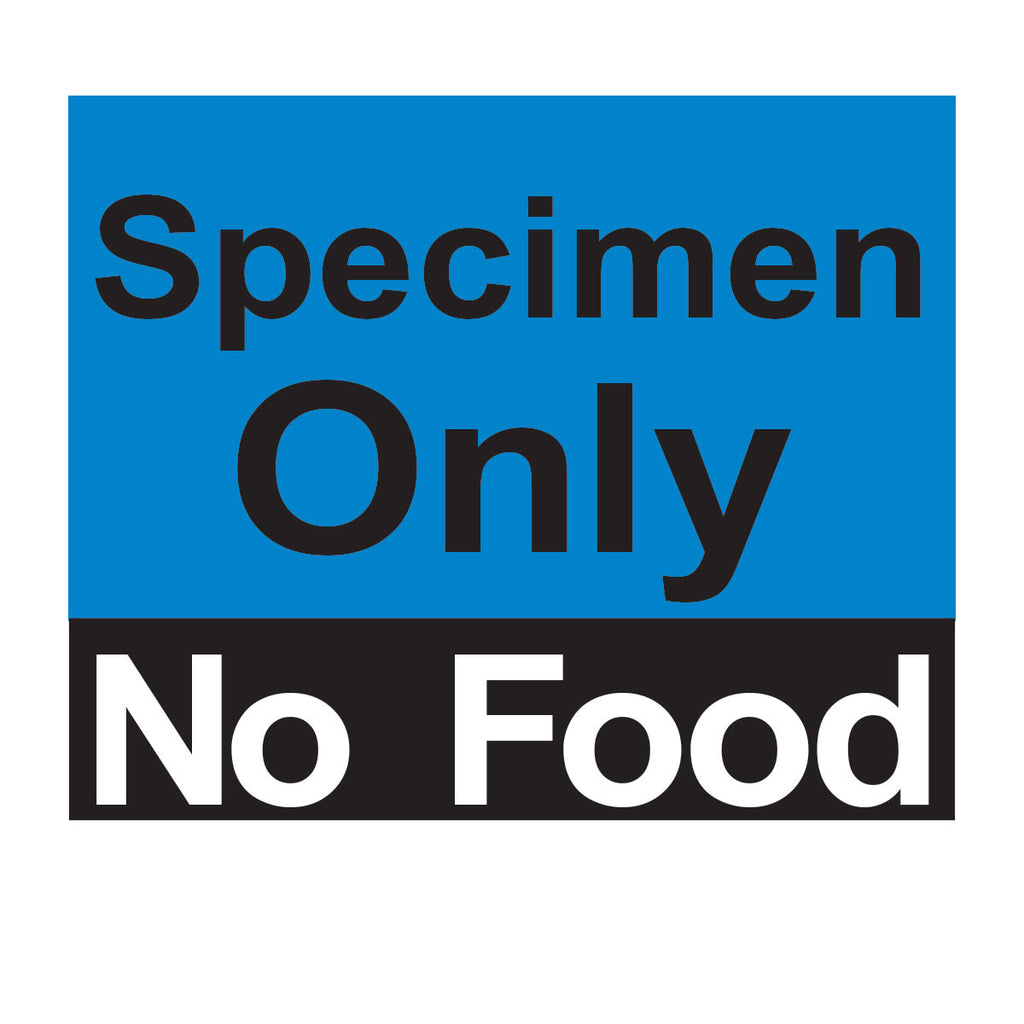 Specimen Only No Food Magnet