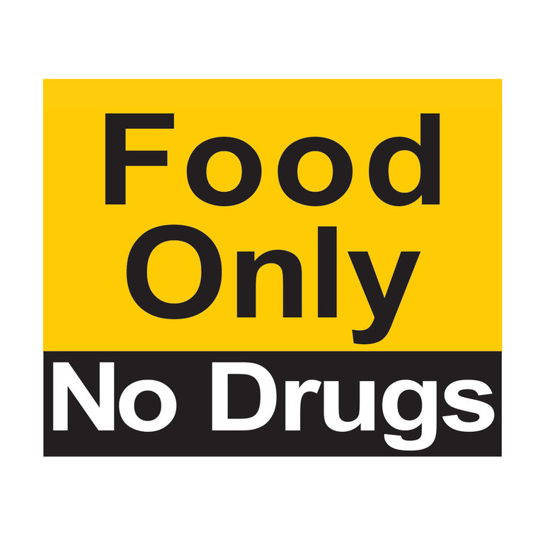 Food Only No Drugs Magnet