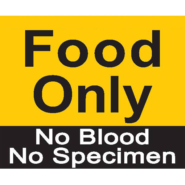 Food Only No Blood No Specimen Magnet
