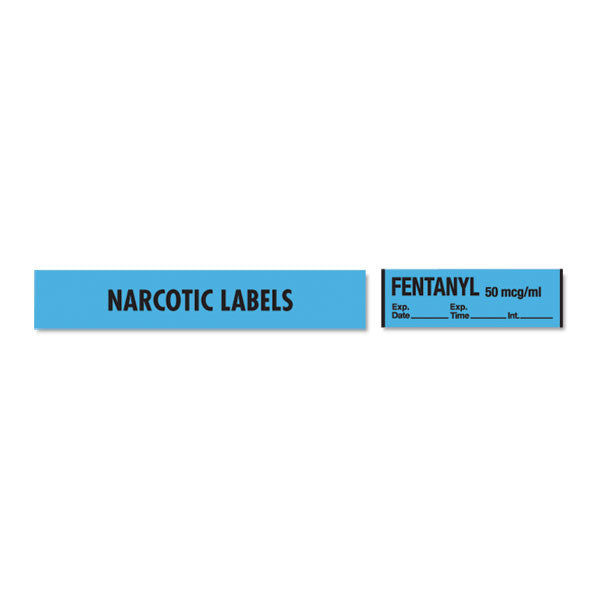 Narcotics Medication Label Tape - Fentanyl - mg/mL