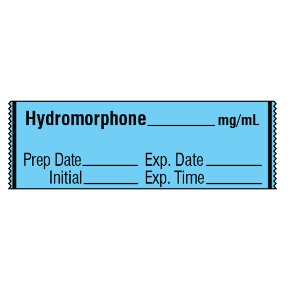 Narcotics Medication Label Tape - Hydromorphone