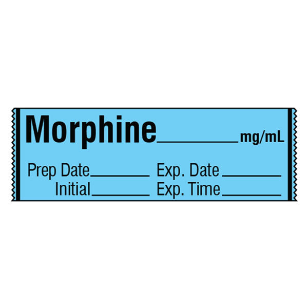 Narcotics Medication Label Tape - Morphine