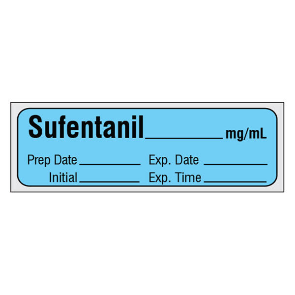Narcotics Medication Label Tape - Sufentanil