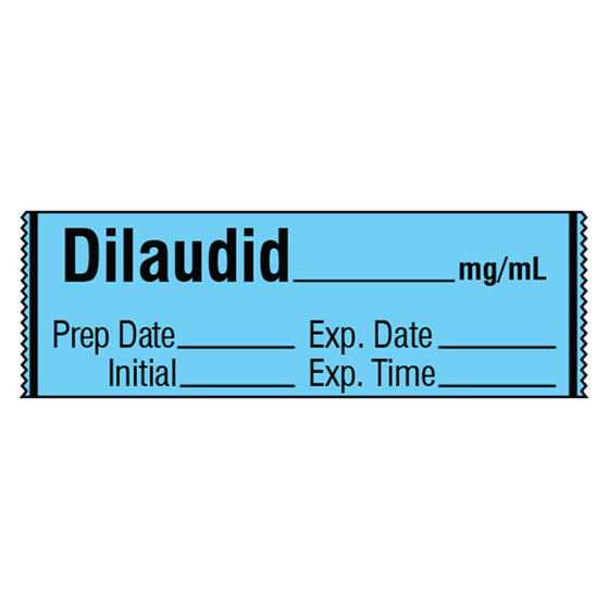 Narcotics Medication Label Tape - Dilaudid