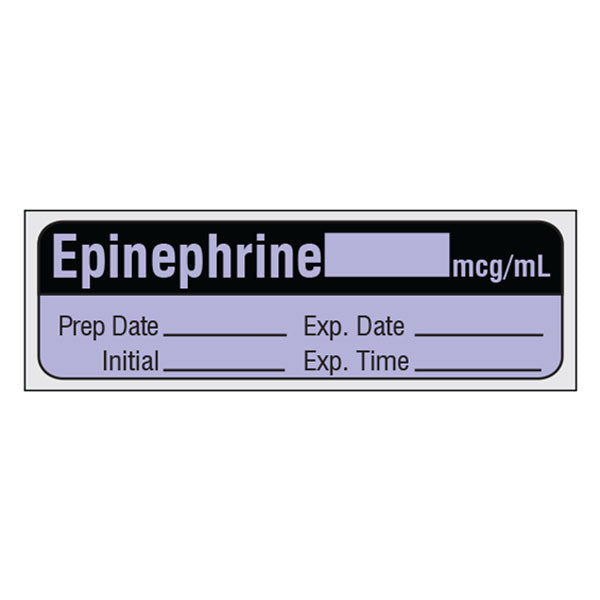 Vasopressor Medication Label Tape - EPINEPHRINE__mcg/mL