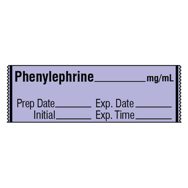 Vasopressor Medication Label Tape - PHENYLEPHRINE__mg/mL