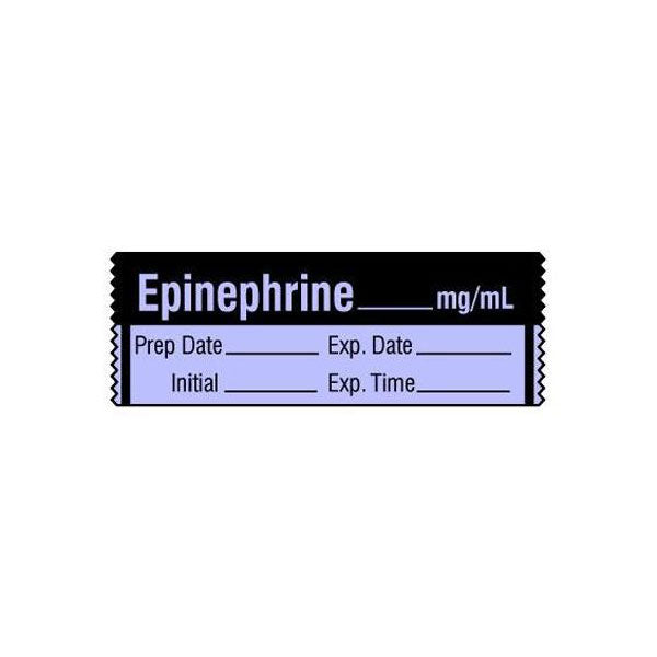 Vasopressor Medication Label Tape - EPINEPHRINE__mg/mL