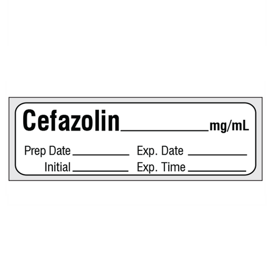 CEFAZOLIN mg/mL Medication Label Tape