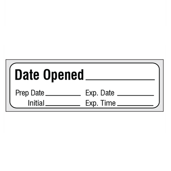 DATE OPENED Medication Label Tape