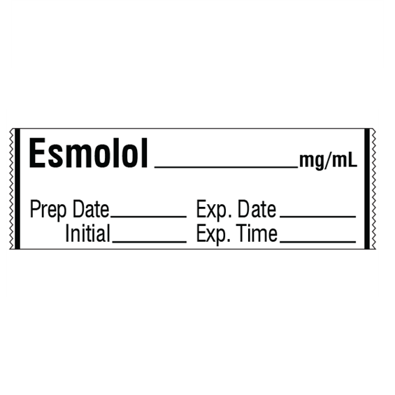 ESMOLOL mg/mL Medication Label Tape