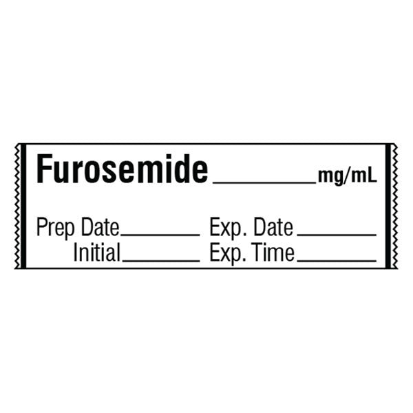 FUROSEMIDE__mg/mL Medication Label Tape
