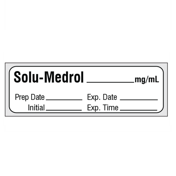 SOLU-MEDROL mg/mL Medication Label Tape