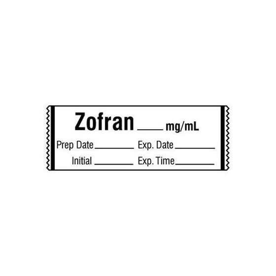 ZOFRAN__mg/mL Medication Label Tape