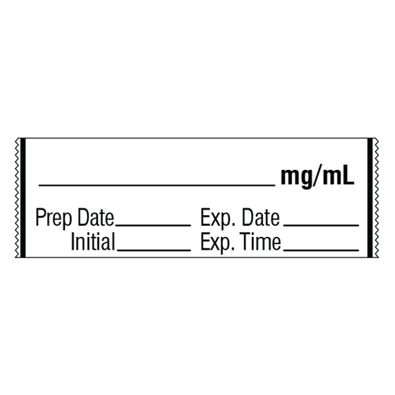 mg/mL Medication Label Tape