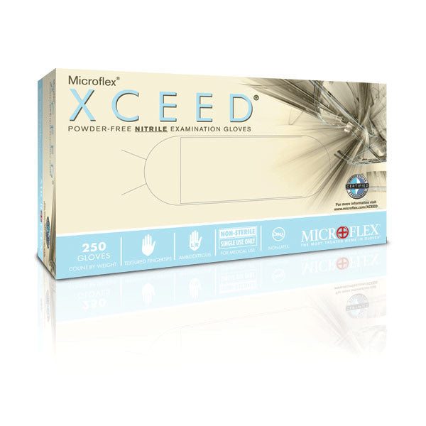 Microflex XCEED Nitrile Medical Gloves - Large