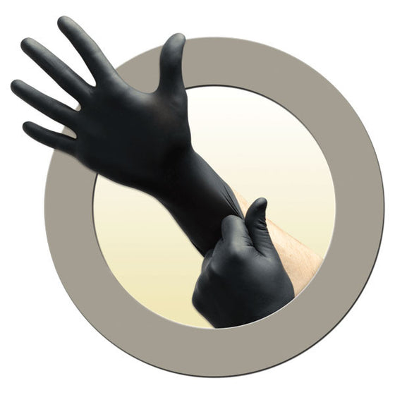 Microflex Black Dragon Zero Nitrile Medical Gloves - Extra Small