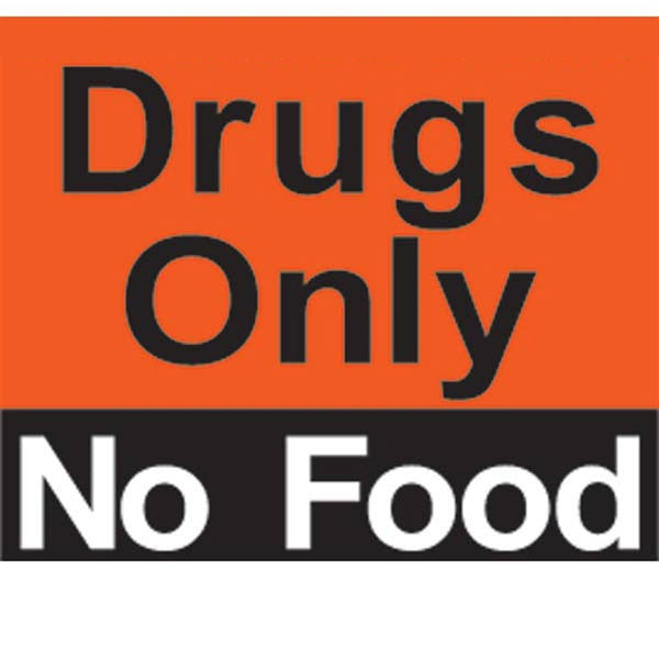 Drugs Only No Food Magnet