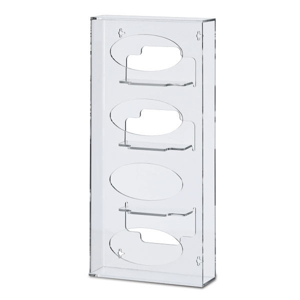 Slim Silhouette Glove Box Holder - Quad Vertical